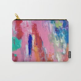 Lucky #13, a contemporary abstract in pinks and fuchsias Carry-All Pouch