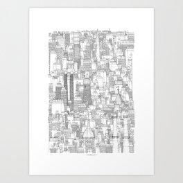 Dublin, city of chimneys Art Print