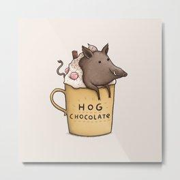 Hog Chocolate Metal Print