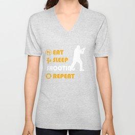 Shooting Graphic T Shirt Unisex V-Neck