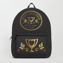 Mother's day golden trophy Backpack