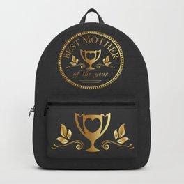 Mother's day golden trophy Backpack