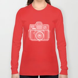 I Still Shoot Film Holga Logo - Red Long Sleeve T-shirt