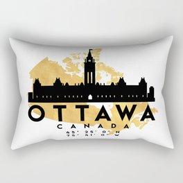 OTTAWA CANADA SILHOUETTE SKYLINE MAP ART Rectangular Pillow