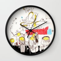 jazz Wall Clocks featuring Jazz by Nayoun Kim