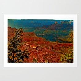 Canyon colours show through Art Print