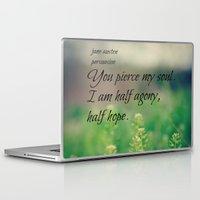 jane austen Laptop & iPad Skins featuring Agony and Hope Jane Austen by KimberosePhotography