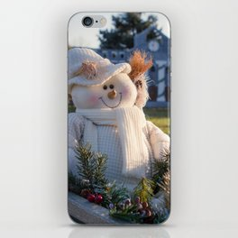 A Smiling Snowman iPhone Skin