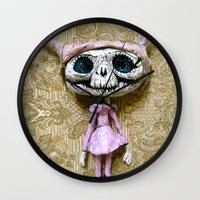 luna lovegood Wall Clocks featuring Luna by meme