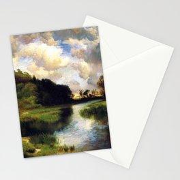 River Landscape, Amagansett, Long Island, New York pastoral by Thomas Mann Stationery Cards