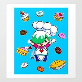 Let's get baking! Art Print