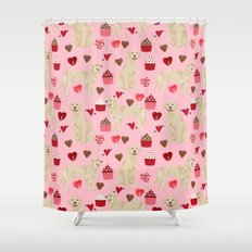 Golden Retriever cute valentines day must have dog gifts pet portraits custom dog lover valentines Shower Curtain