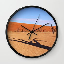 Shadow in the Dead Vlei - Namibia Wall Clock