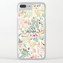 Deers In The Forest Clear iPhone Case