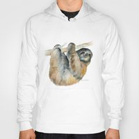 sloth Hoodies featuring Sloth by Susan Windsor