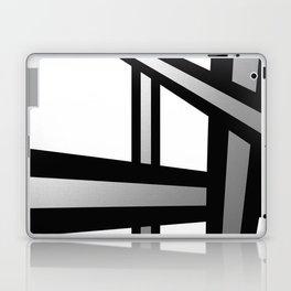 Bold Metallic Beams - Minimalistic, abstract black and white artwork Laptop & iPad Skin