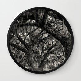 Live Oaks with Spanish Moss, Georgia Wall Clock