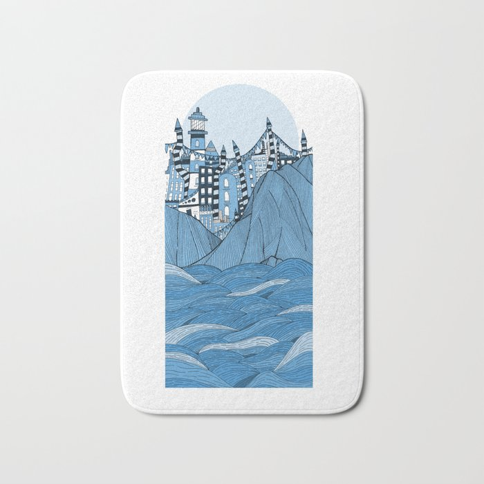 Sea cliff Town Bath Mat