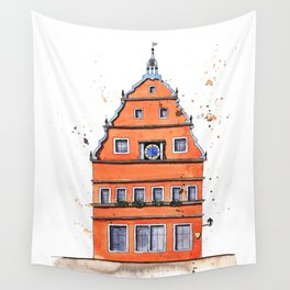 whimsical house in Germany Wall Tapestry