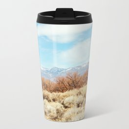 View of the Sierra Nevada Mountains from Highway 395 Travel Mug