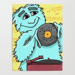 Jazz loving Yeti Poster