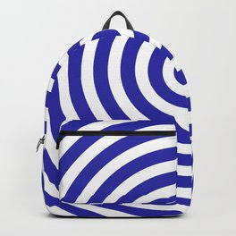 Circles (Navy Blue & White Pattern) Backpack