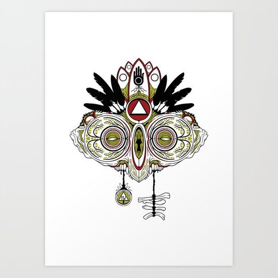 Death Mask 2 Art Print