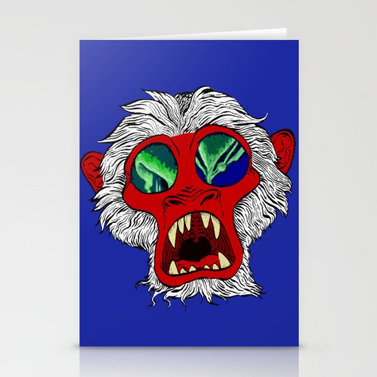 """Arctic Monkey"" by Virginia McCarthy Stationery Cards"