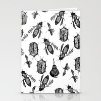 insects Stationery Cards featuring INSECTS by D E  W I L D E