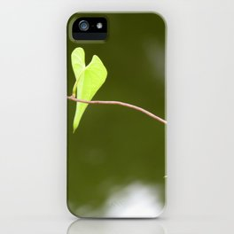 Heart Shaped Green Leaves Photography iPhone Case