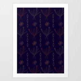 Purple Weeds Art Print