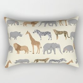 Safari animal minimal modern pattern basic home dorm decor nursery safari patterns Rectangular Pillow