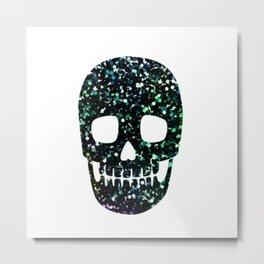glitter skull Metal Print
