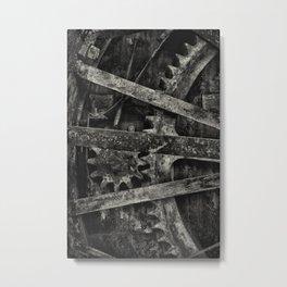 Tractor Wheel 2 Metal Print
