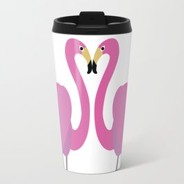 Flamingos in love Travel Mug