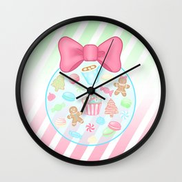 Christmas Sweets Wall Clock