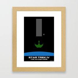 Trek IV: The Voyager Home Minimalist Poster Framed Art Print