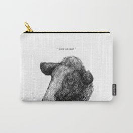 """TypoAnimal - """"Cow on me!"""" Carry-All Pouch"""