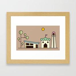 Tech Forest Framed Art Print