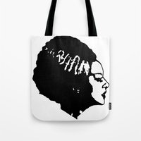 bride Tote Bags featuring Bride by Abstractink82
