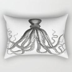 Octopus | Black and White Rectangular Pillow