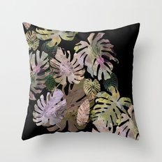 tropical in the nigth Throw Pillow
