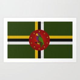 Dominica Flag Art Print