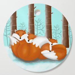 Slepping foxes Cutting Board