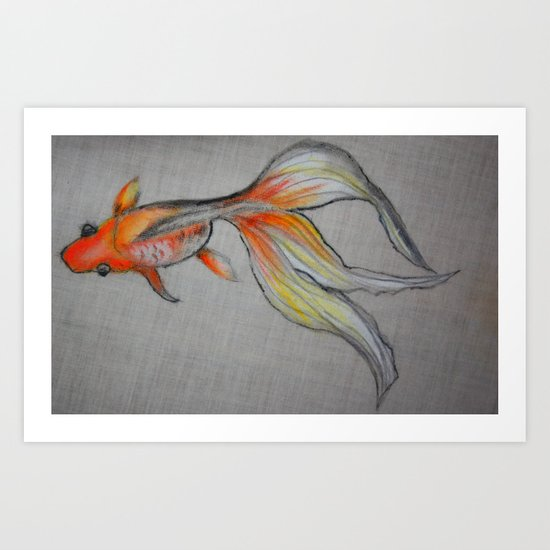 Goldfish Pond (close up #6) Art Print