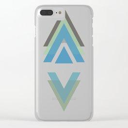 Triangulate - A geometric pattern design Clear iPhone Case