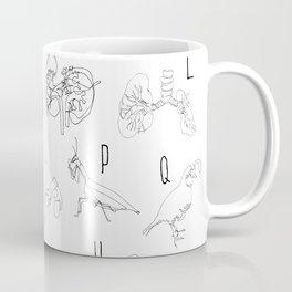 Blind Contour Alphabet Coffee Mug