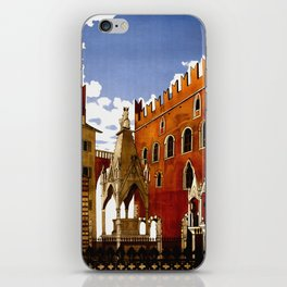 Vintage Verona Italy Travel iPhone Skin