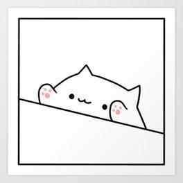 Bongo Cat Art Print