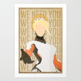 We need you. Art Print